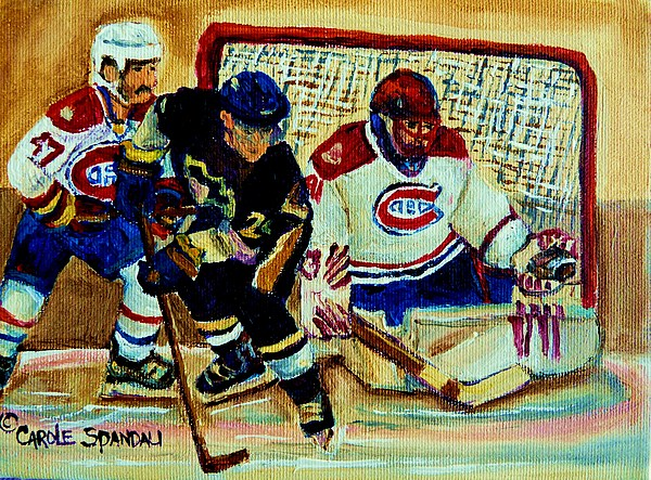 Goalie  And Hockey Art Painting