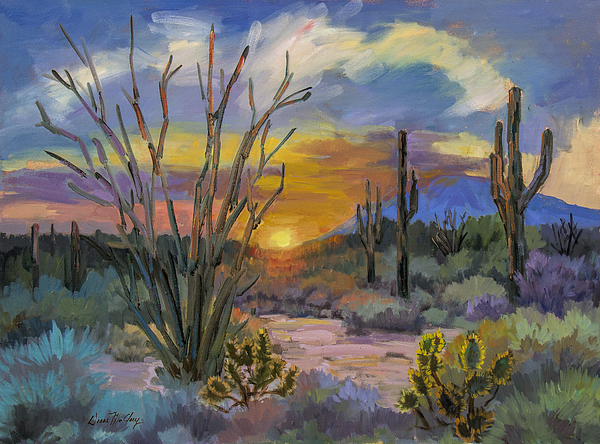 God S Day Sonoran Desert Painting By Diane Mcclary