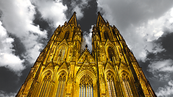 Golden Dome Of Cologne Photograph