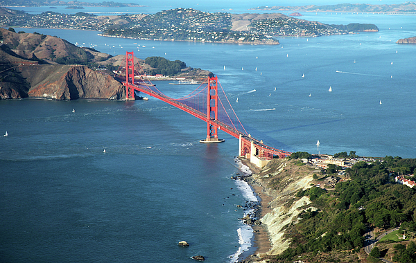 Horizontal Photograph - Golden Gate Bridge by Stickney Design