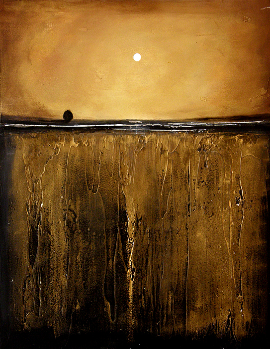 Minimalist Painting - Golden Inspirations by Toni Grote
