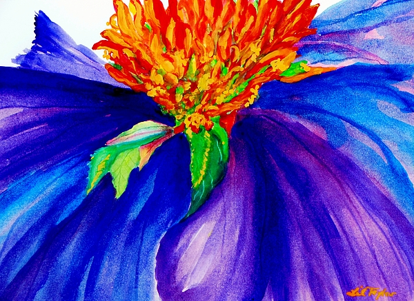 Coneflower Painting Painting - Graceful Curves by Lil Taylor