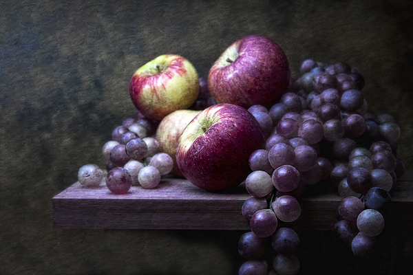 Apples Photograph - Grapes With Apples by Tom Mc Nemar