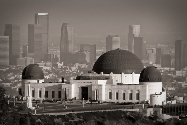 3scape Photos Photograph - Griffith Observatory by Adam Romanowicz
