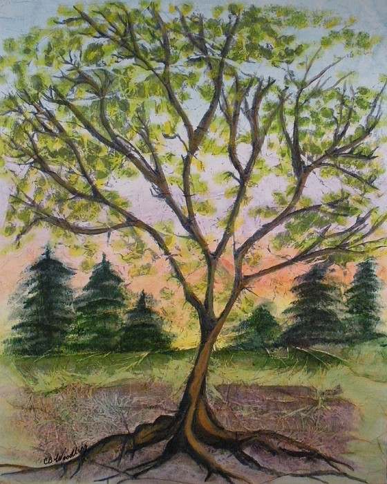 Tree Painting - Growth by CB Woodling