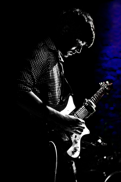 Guitar Photograph - Guitar Man In Blue by Meirion Matthias