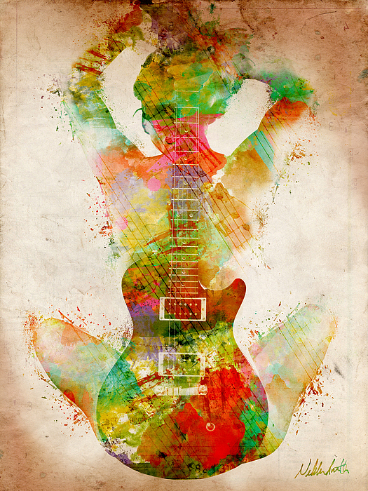 Guitar Siren Digital Art