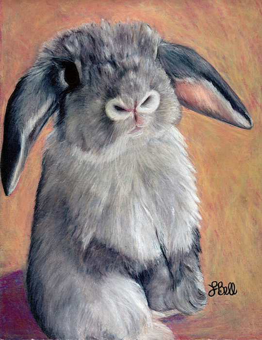 Rabbit Painting - Gus by Laura Bell