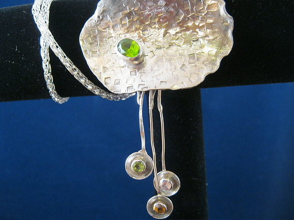 Hammered Dangle Necklace Jewelry