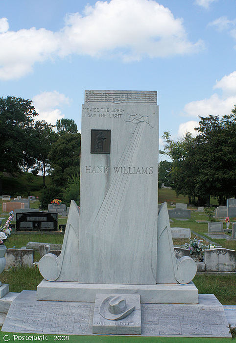 Hank Williams Sr. Photograph - Hank Williams Sr. Headstone by Carolyn Postelwait
