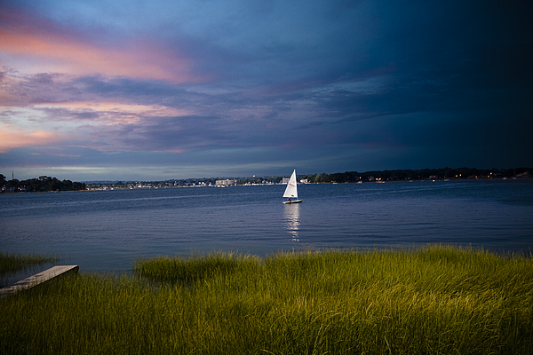 Ocean Photograph - Harborview Sunset by Joshua Francia