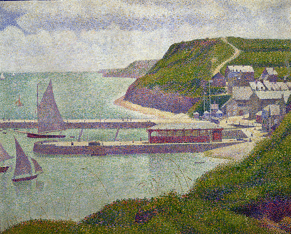 Harbour At Port En Bessin At High Tide Painting