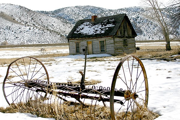 Utah Photograph - Hay Rake At Butch Cassidy by Nelson and Cheryl Strong
