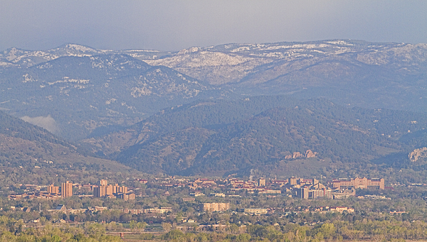 Colorado Photograph - Hazy Low Cloud Morning Boulder Colorado University Scenic View  by James BO  Insogna