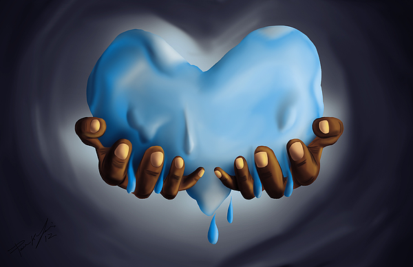 Heart Of Water Painting - Heart Of Water by Pierre Louis