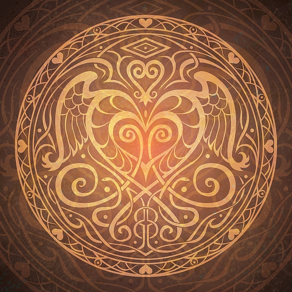 Heart Of Wisdom Mandala Digital Art