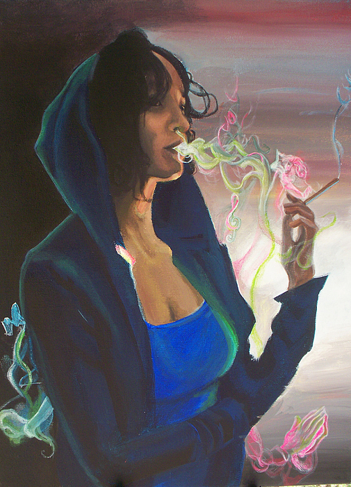 Smoking Painting - High On Life by Lauren Penha