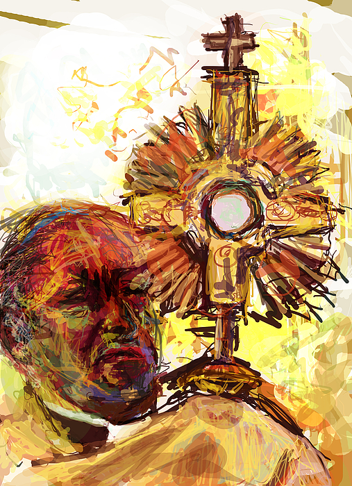 Blessed Sacrament Digital Art - Him by James Thomas