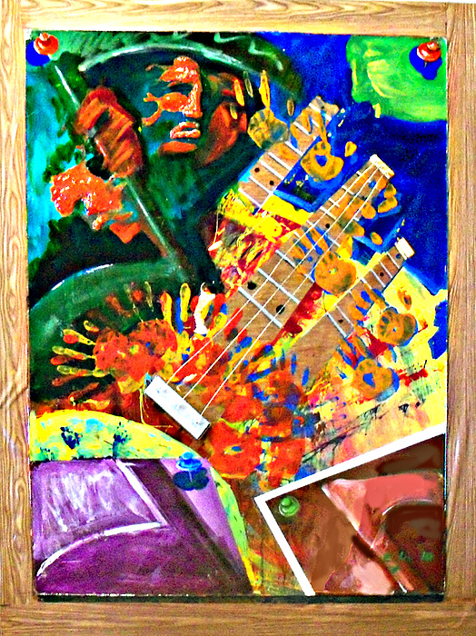 Painting Painting - Hombre Con Guitarra by Elio Lopez