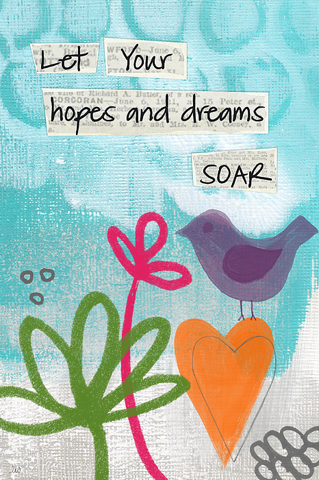Hopes And Dreams Soar Painting by Linda Woods