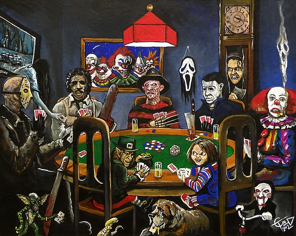 Horror Card Game Painting