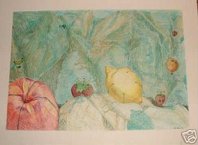 Hot Air Fruit And Safety Strawberries Over The Snake River Gorge Painting
