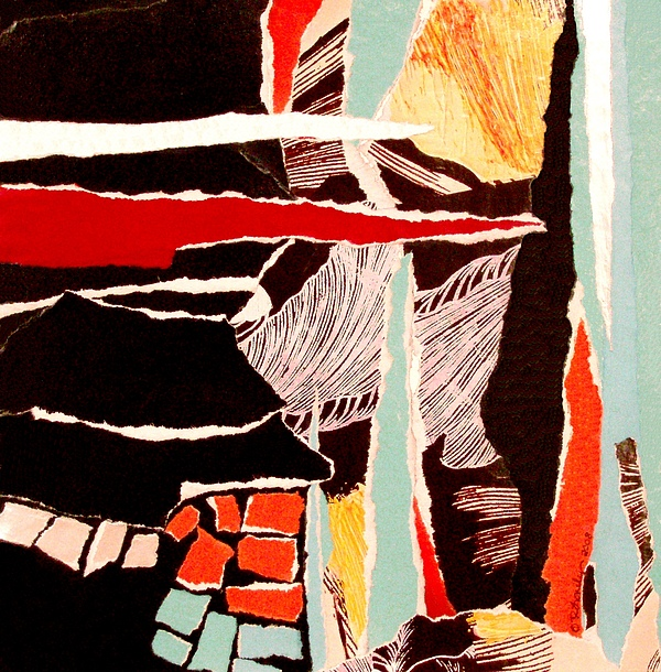 Abstract Mixed Media - Hot Summer Night by Rhiannon Sweet