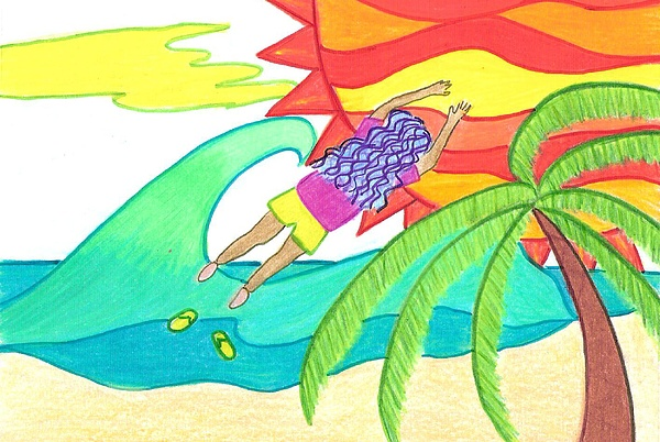 How I Lost My Flip Flops Painting