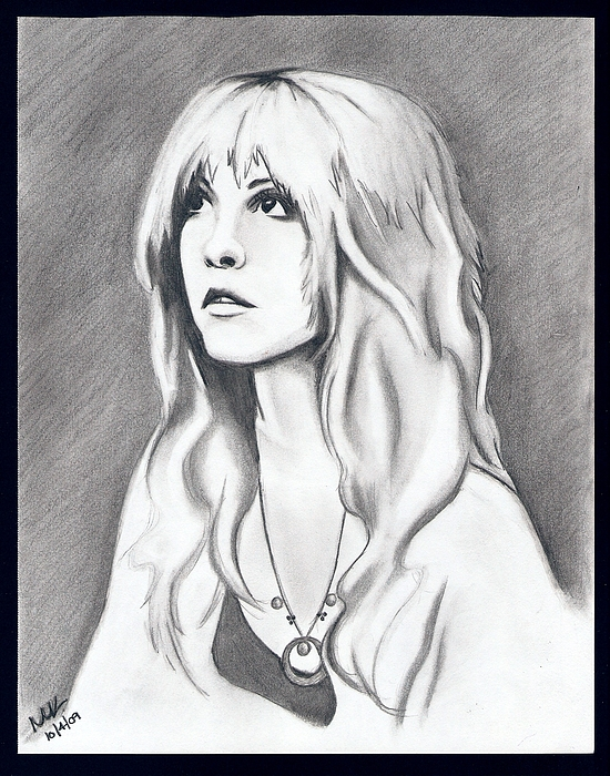 Stevie Nicks Drawing - How Still My Love by Michelle Kinzler