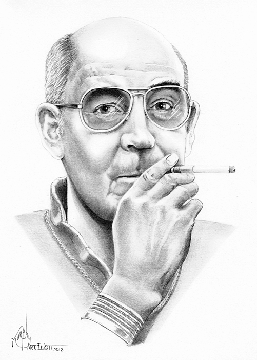 Hunter S. Thompson Drawing