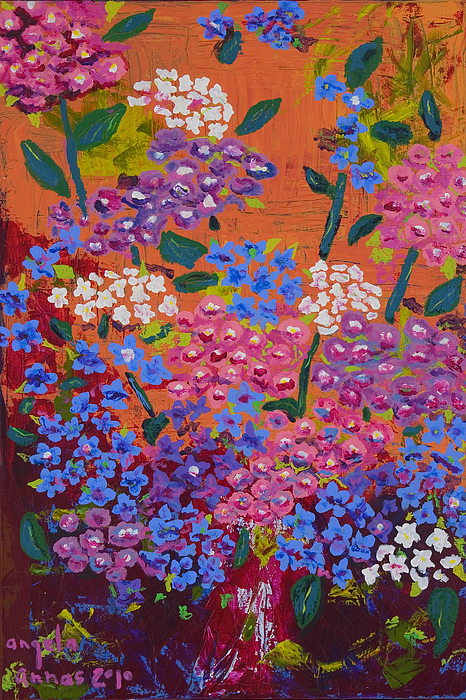 Flowers Painting - Hydrangea Collage by Angela Annas