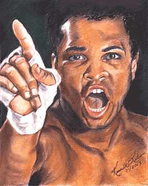 Boxer Painting - I Am The Greatest - Muhammad Ali by Kenneth Kelsoe