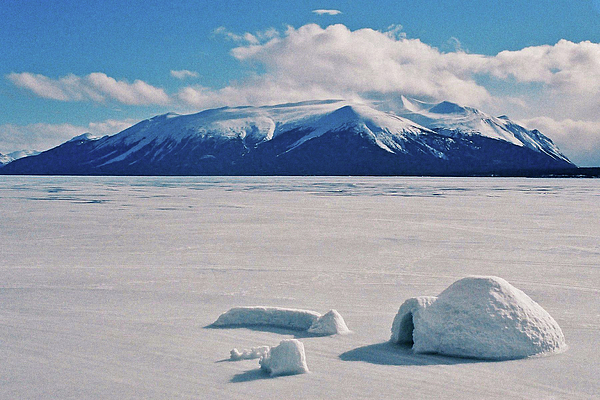 Igloo On Atlin Lake - Bc Photograph