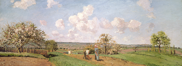 In The Fields Painting - In The Fields by Camille Pissarro