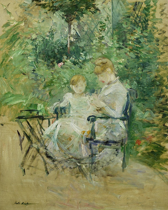 The Painting - In The Garden by Berthe Morisot