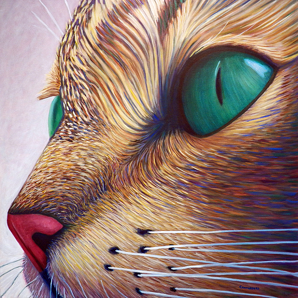 Cat Painting - In The Moment by Brian  Commerford