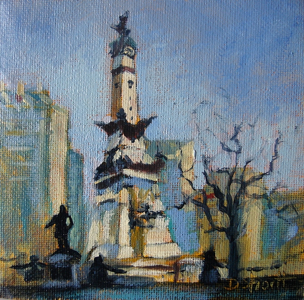 Indy Circle Monument Painting