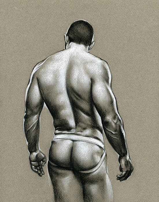 Male Drawing - Jack by Chris  Lopez