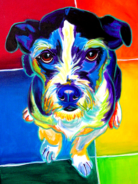 Dog Painting - Jack Russell - Pistol Pete by Alicia VanNoy Call