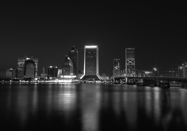 Jacksonville Landing Digital Art - Jacksonville Landing At Night by Sharon Batdorf