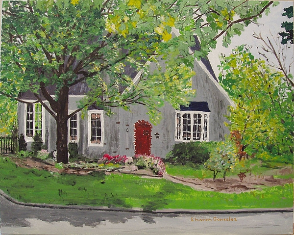 Architecture Painting - Jared House by Sharon  De Vore
