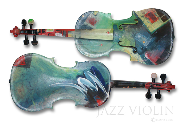 Violin Painting - Jazz Violin - Poster by Tim Nyberg