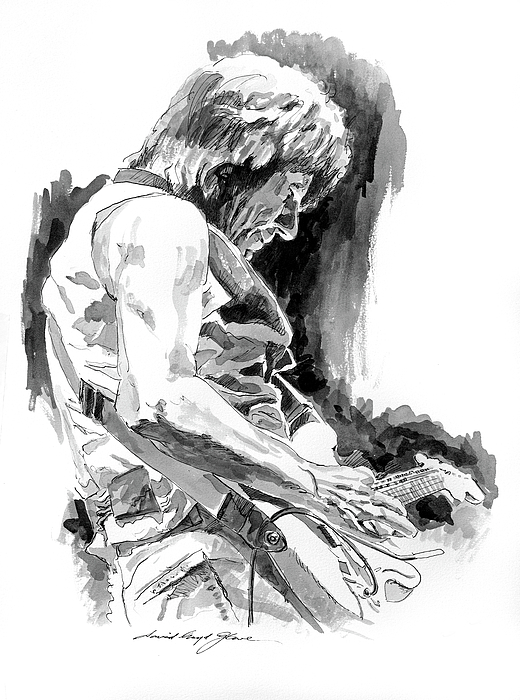Jeff Beck Drawing - Jeff Beck In Concert by David Lloyd Glover