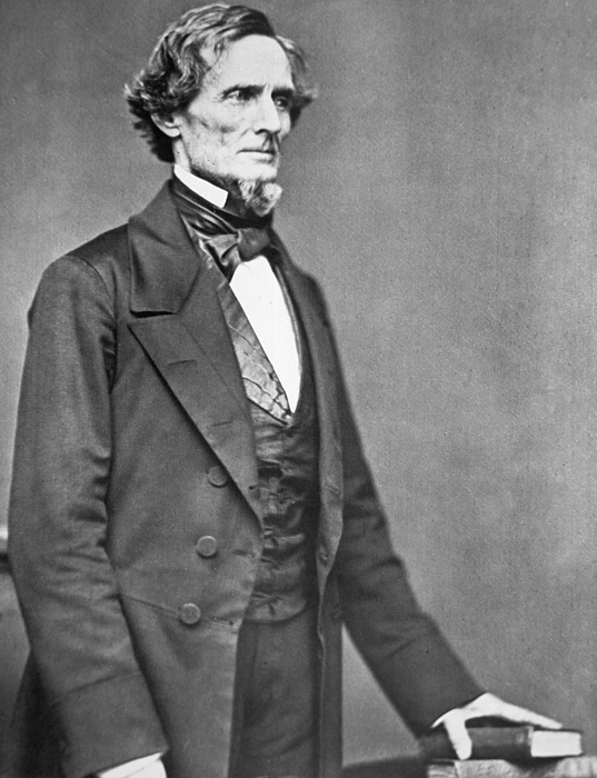Jefferson Davis (1808-89) (b/w Photo) By  American Photographer (19th Century) Photograph - Jefferson Davis by American Photographer