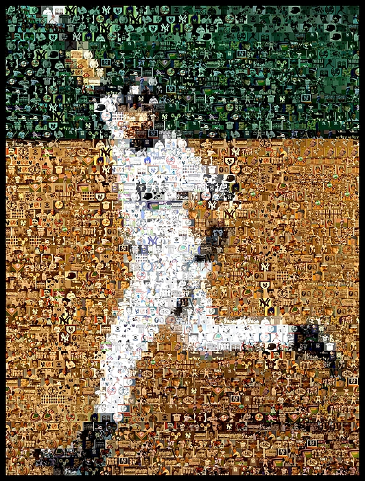 Jeter Walk-off Mosaic Mixed Media
