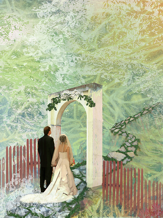 Wedding Painting - Journey Of Marriage by Arlissa Vaughn