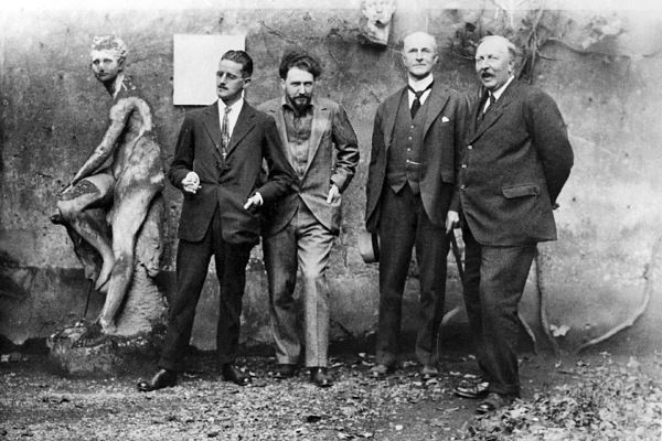 1923 Photograph - Joyce, Pound, Quinn & Ford by Granger