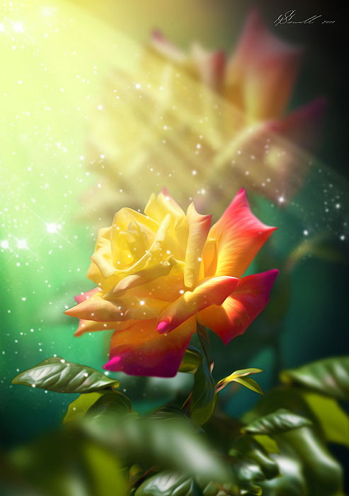 Juicy Rose Digital Art by Svetlana Sewell