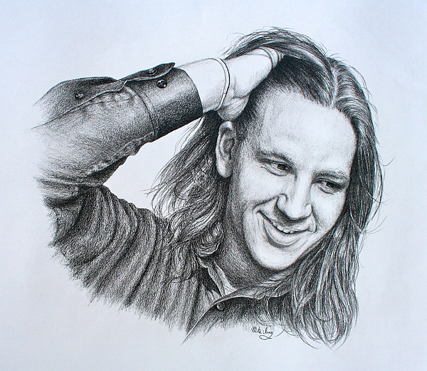 Portrait Drawing - Kevin Daniel Yates by Mike Ivey