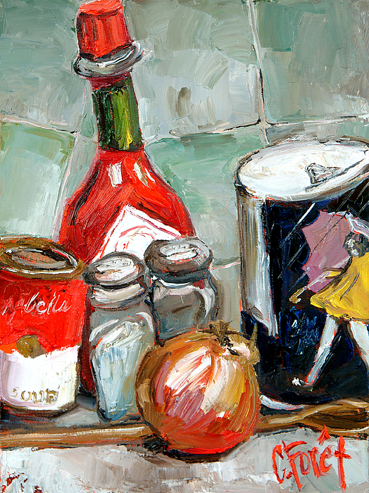 Kitchen Painting - Kitchen Counter by Carole Foret